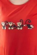 náhled - Opice červené dámske tričko