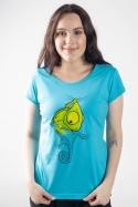 náhled - Zmizík modré dámske tričko
