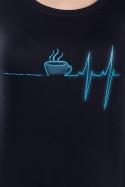 náhled - Coffee help čierne dámske tričko