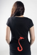 náhled - Čierna ovca čierne dámske tričko