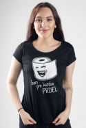 náhled - Prdel čierne dámske tričko