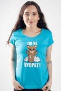 náhled - Jdi se vycpat modré dámske tričko
