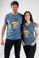 náhled - Piváti z Kalibiku modré dámske tričko