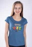 náhled - Madvídci modré dámske tričko