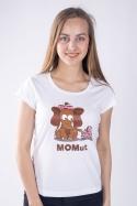 náhled - Momut biele dámske tričko