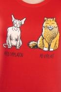 náhled - Mačka pred výplatou dámske tričko