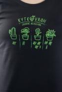 náhled - Kytkovrah čierne dámske tričko