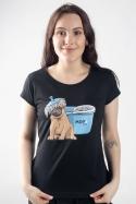 náhled - Mops dámske tričko