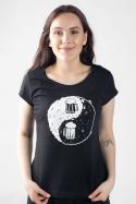 náhled - Jin Jang čierne dámske tričko
