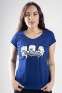 náhled - Nerozluční kamaráti modré dámske tričko