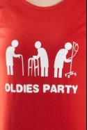 náhled - Oldies party červené dámske tričko