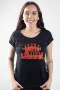 náhled - Punk's Not Dead čierne dámske tričko
