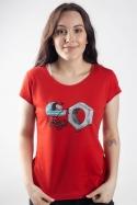 náhled - Správna matka červené dámske tričko