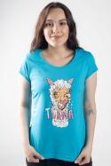 náhled - Tlama modré dámske tričko