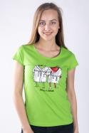 náhled - Jablka v županu dámske tričko
