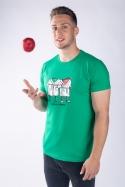 náhled - Jablka v županu pánske tričko