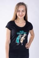 náhled - Vyliate dámske tričko