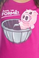 náhled - Ve formě fuchsiové dámske tričko