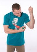 náhled - Svaly modré pánske tričko