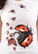 náhled - Ladybird Factory biele dámske tričko
