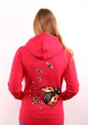 náhled - Ladybird červená dámska mikina