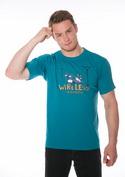 náhled - Bezdrát modré pánske tričko
