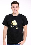 náhled - iDam čierne pánske tričko