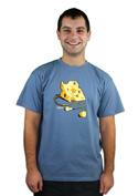 náhled - iDam modré pánske tričko