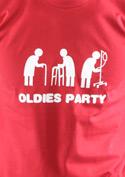 náhled - Oldies party červené pánske tričko