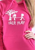 náhled - Fair play fuchsiová dámska mikina