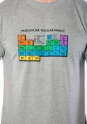 náhled - Periodická tabuľka šedé pánske tričko
