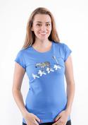 náhled - Zebra modré dámske tričko
