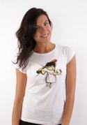 náhled - Zúbková víla biele dámske tričko