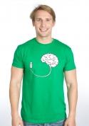 náhled - USB mozog zelené pánske tričko