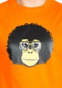 náhled - Retro opičiak oranžové pánske tričko