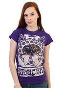 náhled - Mucha fialové dámske tričko