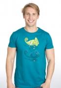 náhled - Zapnuté vypnuté modré pánske tričko