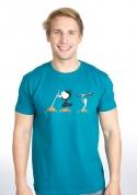 náhled - Nesprávny koniec modré pánske tričko