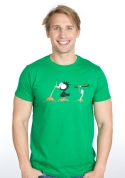 náhled - Nesprávny koniec zelené pánske tričko