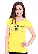 náhled - Nesprávny koniec žlté dámske tričko