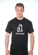 náhled - Teamwork čierne pánske tričko