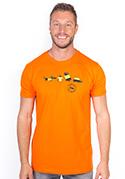 náhled - Testované oranžové pánske tričko