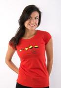 náhled - Testované červené dámske tričko