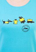 náhled - Testované modré dámske tričko