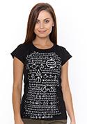 náhled - Matematik čierné dámske tričko