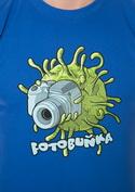 náhled - Fotobuňka modré pánske tričko