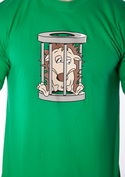 náhled - Ježko v klietke zelené pánske tričko