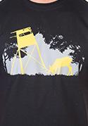 náhled - Lesná harmónia čierne pánske tričko