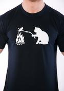 náhled - Mačka a myš pánske tričko
