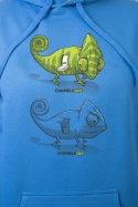 náhled - Zapnuté vypnuté modrá pánska mikina